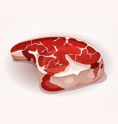 T-bone steak from butcher vector
