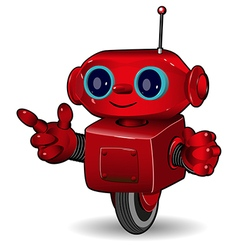 The red robot on the wheel vector image