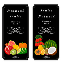 The sweet fruits vector