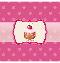 Vintage Frame With Cupcake vector