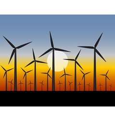 Wind farms generators for electricity vector