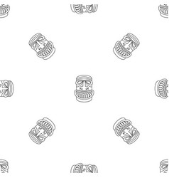 wood idol pattern seamless vector image
