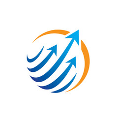 Abstract circle arrow technology logo vector