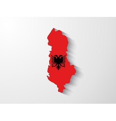 Albania map with shadow effect vector image vector image