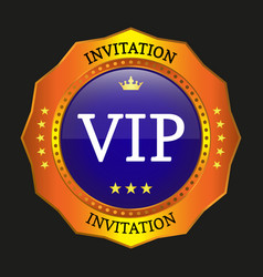 vip label vector image