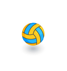 volleyball ball isometric flat icon 3d vector image vector image