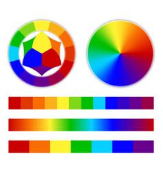 bright rainbow gradient vector image vector image