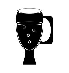 Cup glass refreshment cold liquid pictogram vector