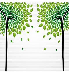 Cute concept trees vector image vector image