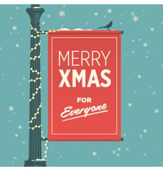 merry christmas for everyone vector image vector image