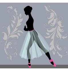 young ballerina vector image vector image