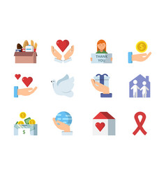 colored symbols of charities vector image