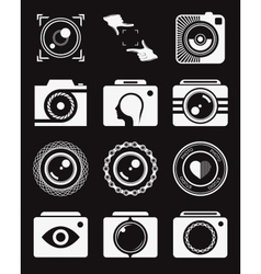 Set of Icons and Logos Photo vector image vector image