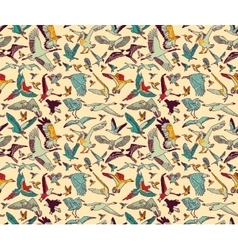 Birds seamless pattern wallpaper color vector image vector image