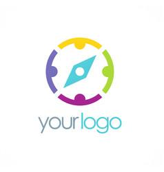 group compass logo vector image