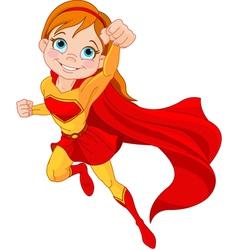 Super Girl vector image vector image