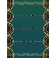 Waves Art Deco Background vector image vector image
