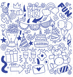 07-09-068 hand drawn party doodle happy birthday vector