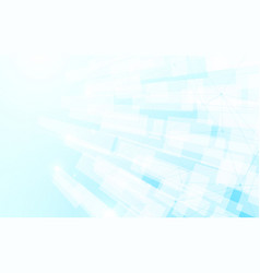abstract white and blue modern square background vector image