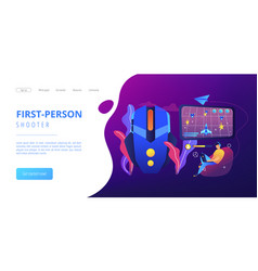 action game concept landing page vector image