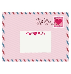 airmail love envelope vector image