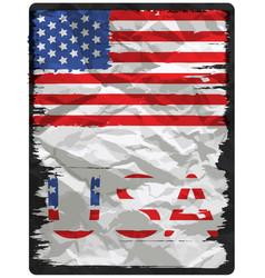 american flag poster design vector image