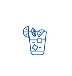 aperitif beverage line icon concept aperitif vector image