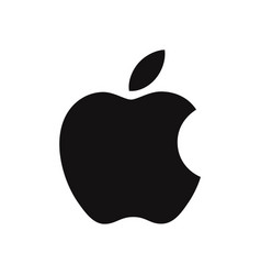 apple logo icon iphone sign vector image