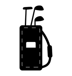 Bag for golf clubs icon simple style vector