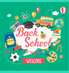 Banner welcome back to school vector