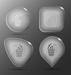 Bin Glass buttons vector