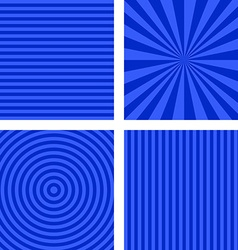 Blue simple striped background set vector