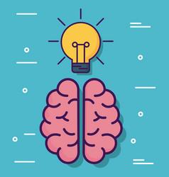 brain cartoon design vector image
