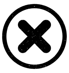 Cancel Icon Rubber Stamp vector