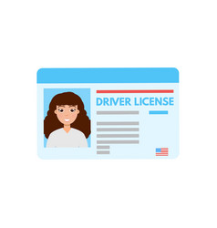 car driver license or id cadr vector image