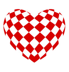 Chess heart icon simple style vector