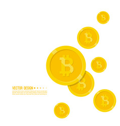 Crypto currency bitcoin internet vector