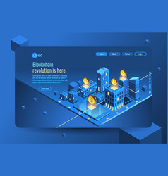 cryptocurrency isometric infographic vector image