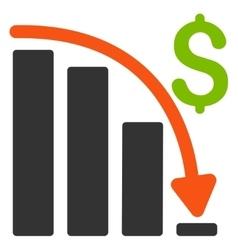 Default Crisis Fail Flat Icon vector image