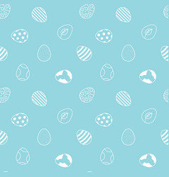 doodle easter eggs seamless pattern background vector image