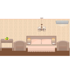 east hotel room interior with furniture vector image