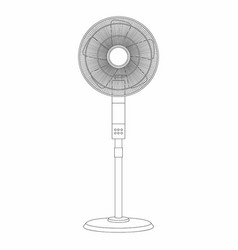 Electric fan thin line style vector
