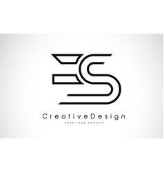 Es e s letter logo design in black colors vector