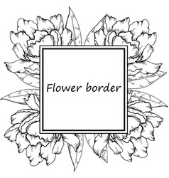 flower drawing frame vector image