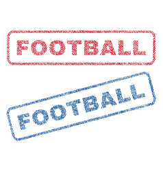 Football textile stamps vector