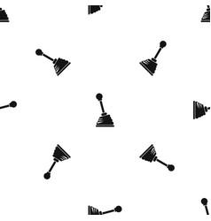 Gear stick pattern seamless black vector