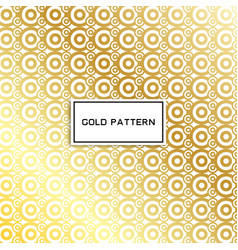 Geometric gold glittering seamless pattern on vector