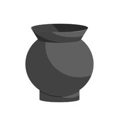 Glass vase icon black monochrome style vector