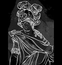 God of ancient greece hand-drawn beautiful vector