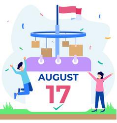 Graphic cartoon character indonesia vector